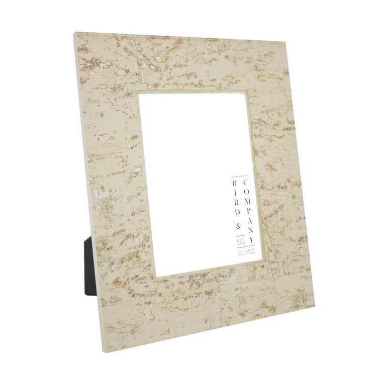 Ivory Cork/Silver Leaf Picture Frame, 4x6