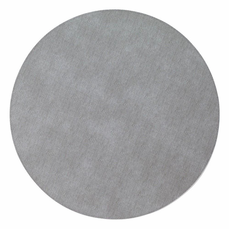 "Pronto 15"" Easy Care Placemat, Round, Gray"