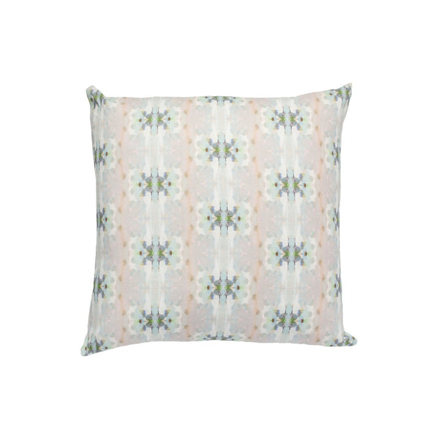 Miss Ella Teal Linen Cotton Pillow 22x22