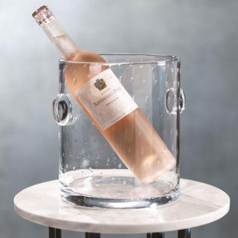 Lagoon Bubbled Glass Ice Bucket
