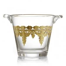 Arte Italica Vetro Gold Ice Bucket