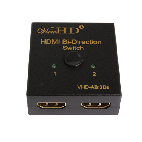 ViewHD HDMI Bi-directional 2x1 or 1x2 A-B | AB Switch | Switcher | VHD-AB:3Ds
