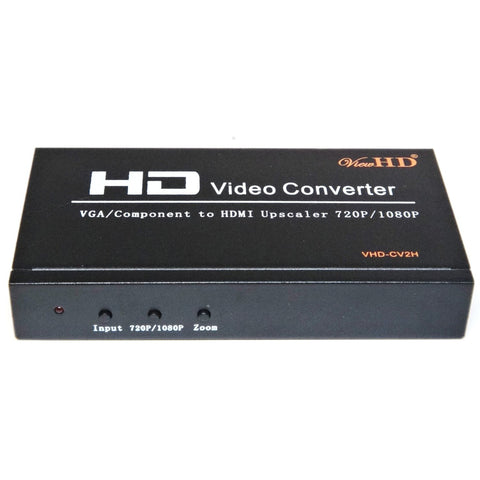 ViewHD Component RGB YPbPr / VGA to HDMI 720P / 1080P PC to TV Upscaling Converter | VHD-CV2H