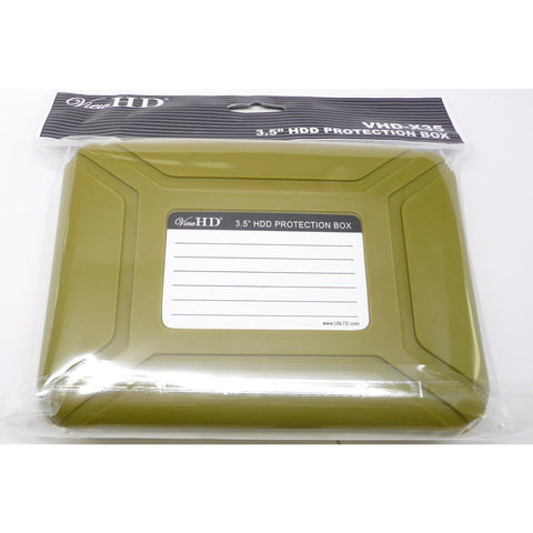 ViewHD Professional Premium Hard Drive Protection Box for 3.5 Inch HDD Storage (Green) | VHD-X35G