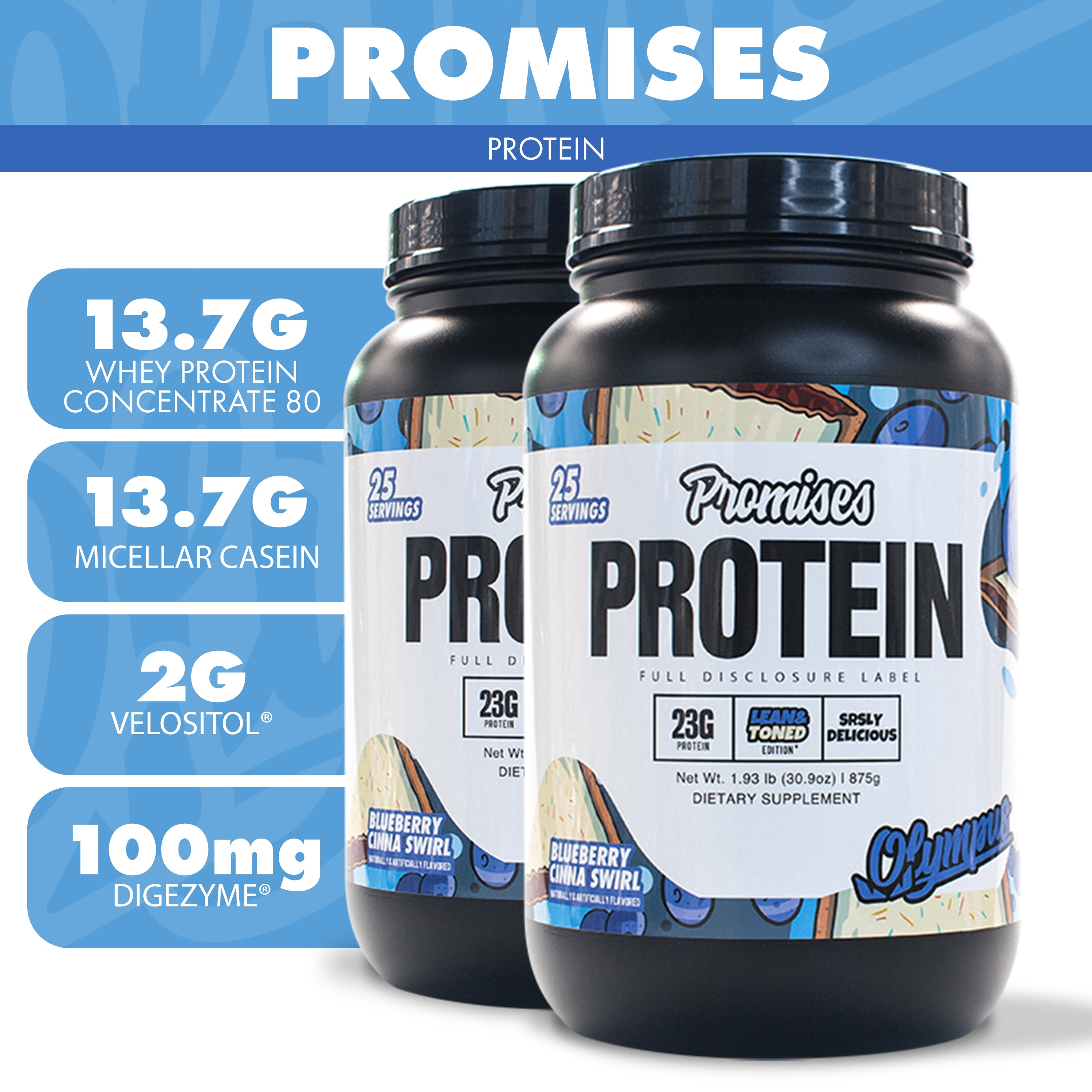 Load image into Gallery viewer, Promises Protein Limited Edition 5 Pack + Free Grind Energy SUPER DEAL