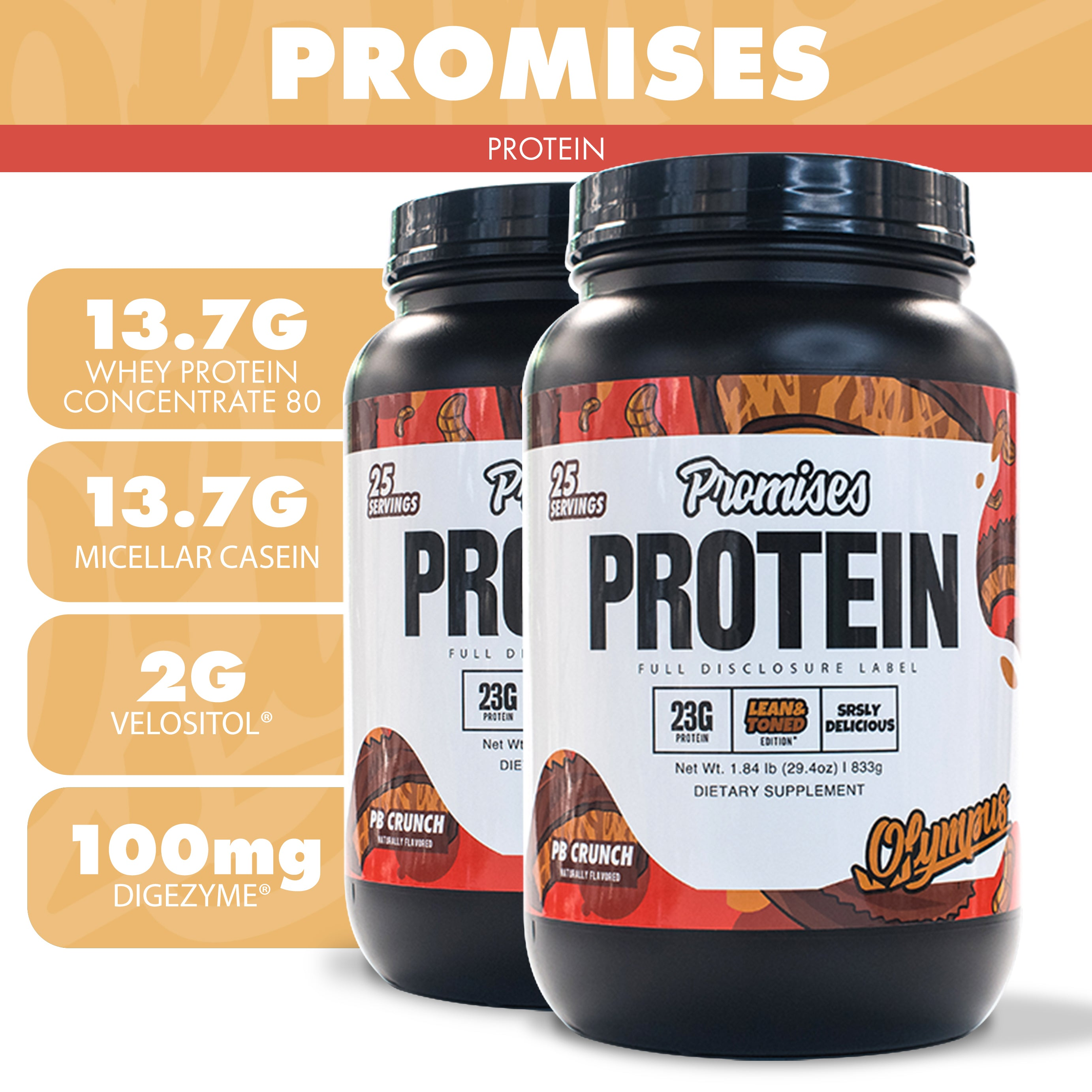 Load image into Gallery viewer, Promises Protein Limited Edition (PB Crunch)