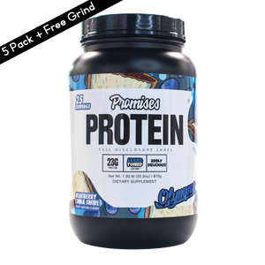 Promises Protein Limited Edition 5 Pack + Free Grind Energy SUPER DEAL