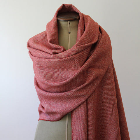 Lambs wool pashmina wrap - tabasco