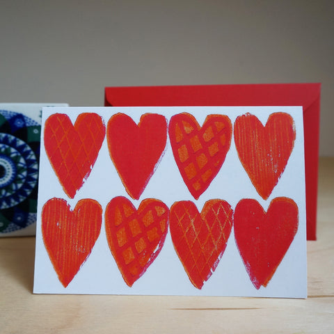 Hearts card - red