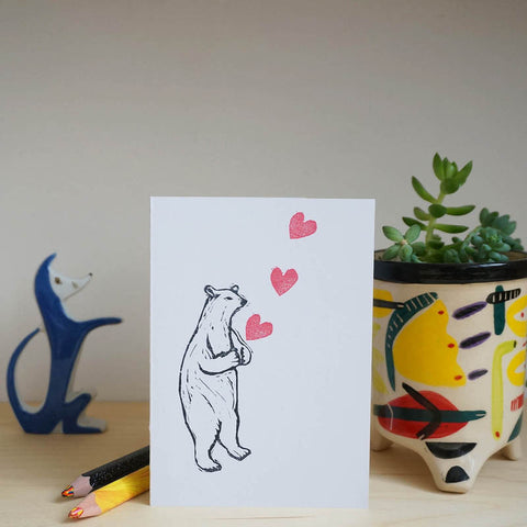 Polar bear greetings card
