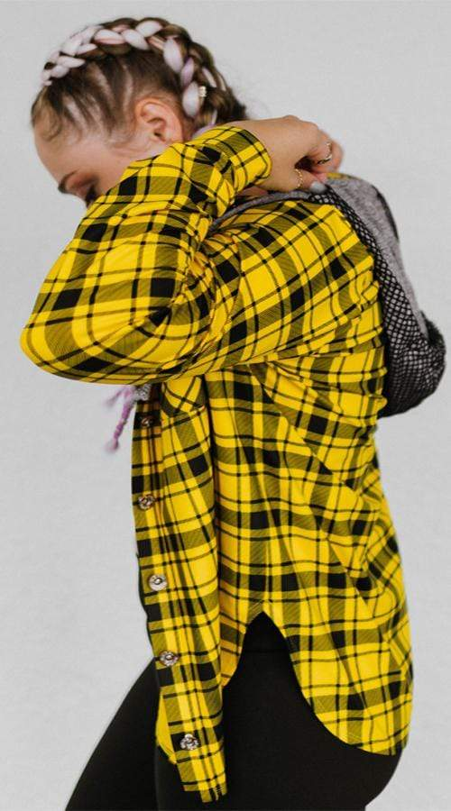 Rad Plaid Button up in 'Blaze' - Celestial Bodiez Collective
