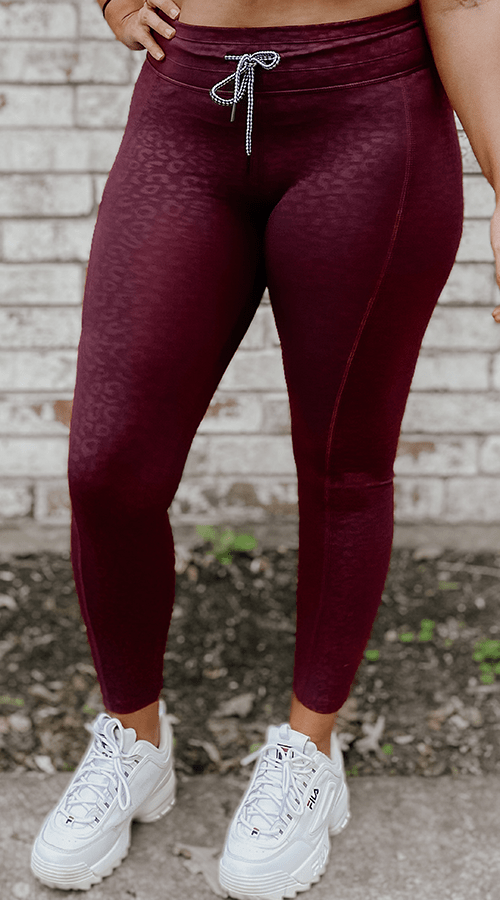 "Hybrid #STREET ⅞ Ankle Leggings in ""BOLD Panther' - Celestial Bodiez Collective"