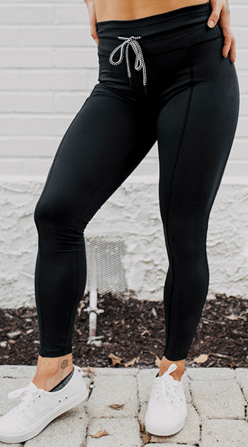 #STREET 7/8th Ankle Legging in 'Lunar Black' - Celestial Bodiez Collective