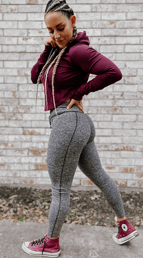 Hybrid #STREET ⅞ Ankle Legging in '50 Shades' - Celestial Bodiez Collective