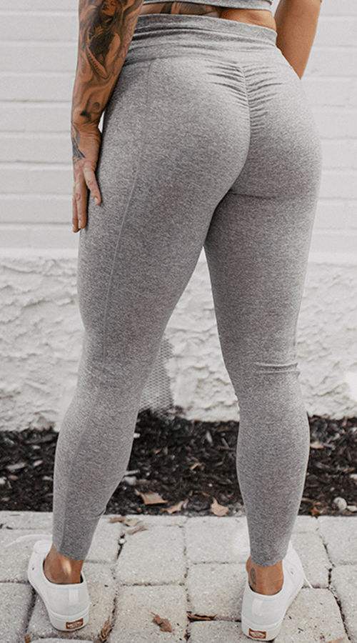 #STREET 7/8th Ankle Legging in 'Smoke Gray' - Celestial Bodiez Collective