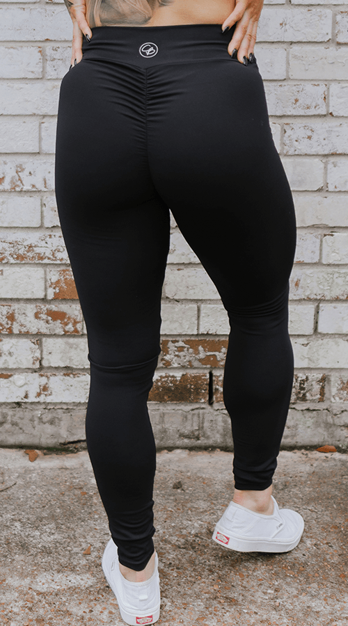 High Rise #Bootyscrunch Leggings in 'Classic Black' - Celestial Bodiez Collective