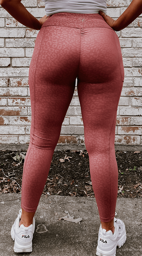 Hybrid #STREET ⅞ Ankle Leggings in 'Rosè Panther' - Celestial Bodiez Collective