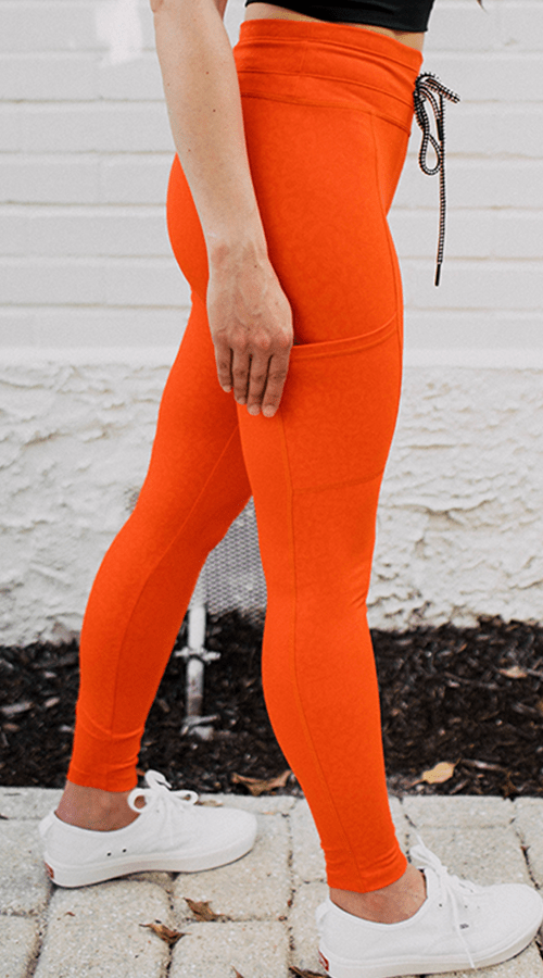 #STREET 7/8th Ankle Legging in 'Fire Panther' - Celestial Bodiez Collective