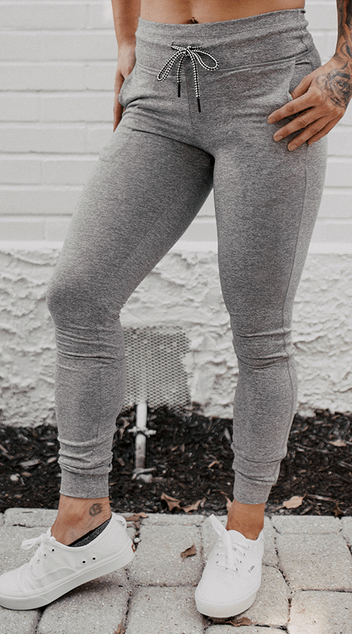 Power Joggers in 'Smoke Gray' - Celestial Bodiez Collective