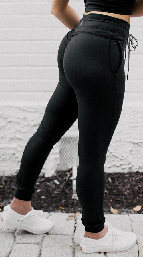 Power Joggers in 'Lunar Black' - Celestial Bodiez Collective