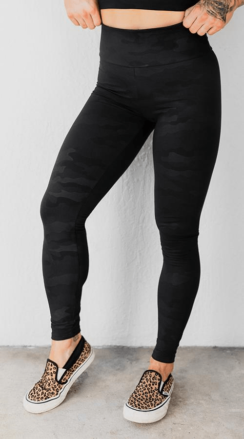 "OG Ultra High Rise Legging in ""Black Camo' - Celestial Bodiez Collective"