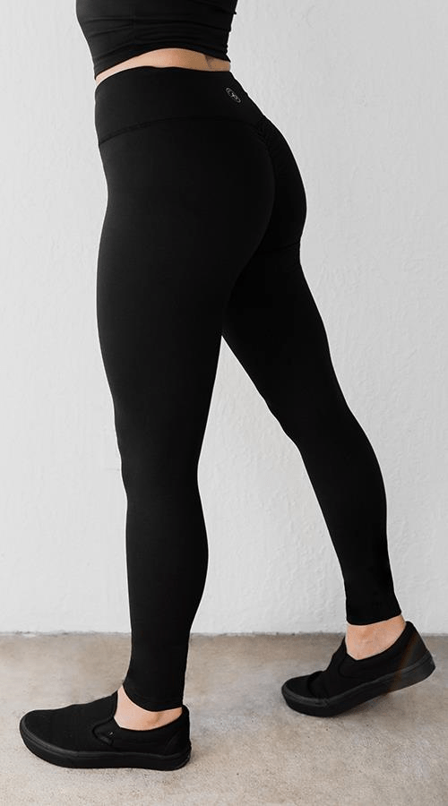 OG V-Cut Legging in 'Lunar Black' - Celestial Bodiez Collective
