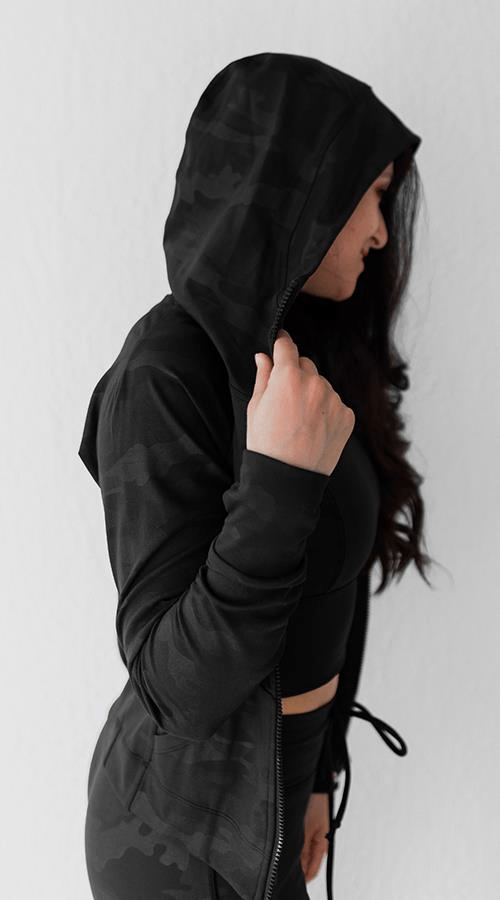 Power Zip Hoodie in 'Black Camo' - Celestial Bodiez Collective