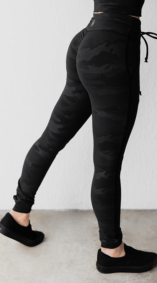 Power Joggers in 'Black Camo' - Celestial Bodiez Collective