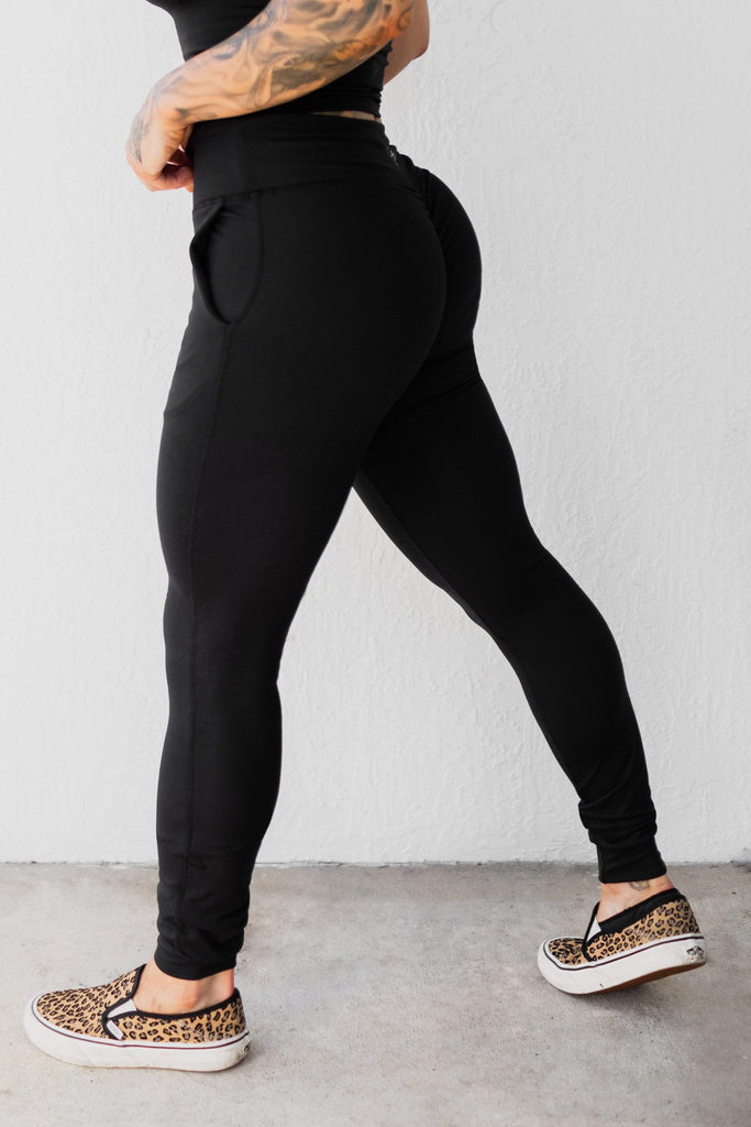 "NEW Power Joggers in ""Lunar Black"" - Celestial Bodiez Collective"