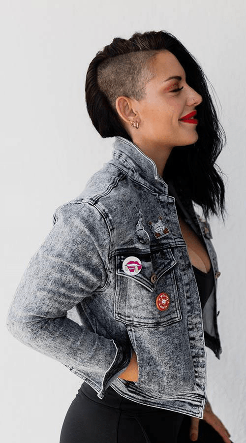 REBEL Denim Jacket in ' Acid Wash 90's Baby' - Celestial Bodiez Collective
