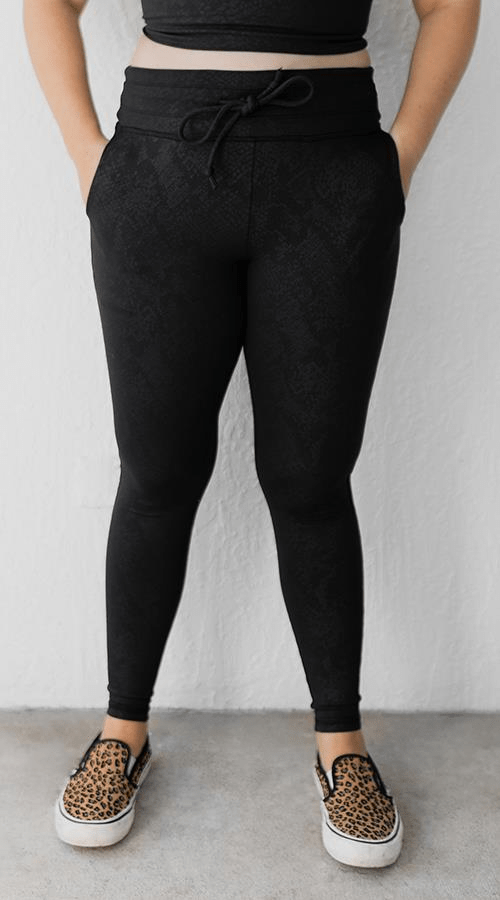 Power 7/8 Legging in 'Black Mamba' - Celestial Bodiez Collective
