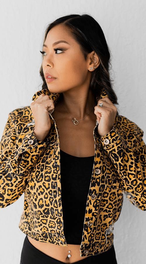 REBEL Denim Jacket in 'Rebel Leopard' - Celestial Bodiez Collective