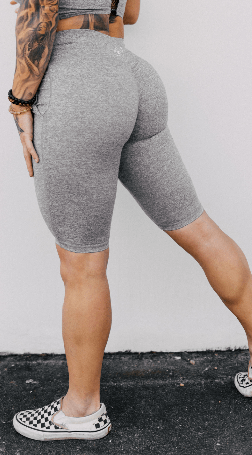 Power Bike Shorts in 'Smoke Gray' - Celestial Bodiez Collective