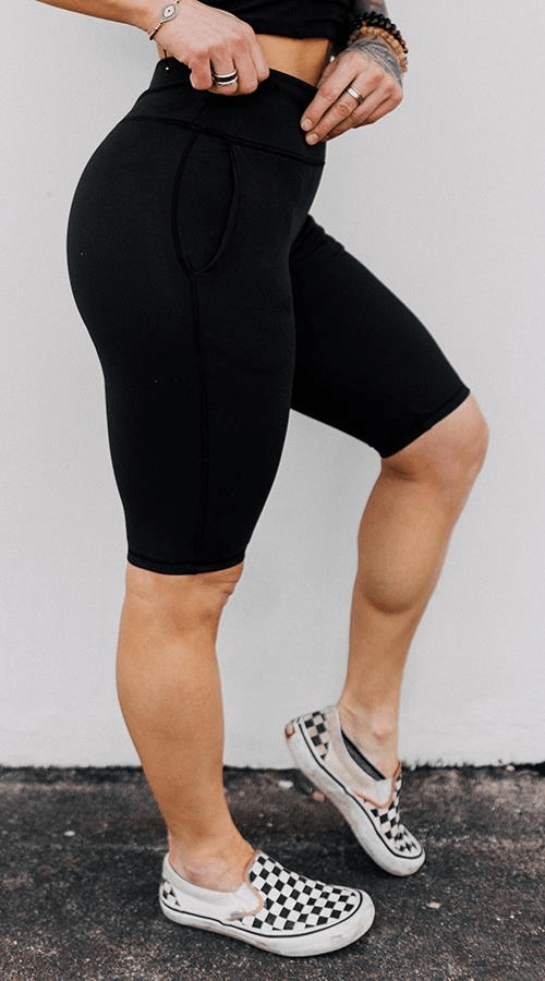 Power Bike Shorts in 'Lunar Black' - Celestial Bodiez Collective