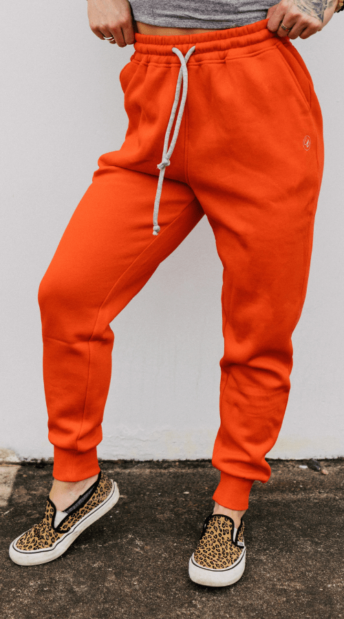 No Bad Days Jogger in 'Fire Orange' - Celestial Bodiez Collective