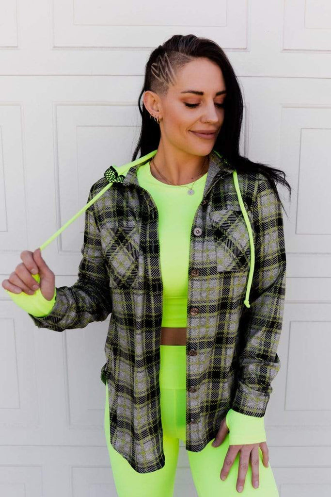 Rad Plaid Button Up in 'Glow' - Celestial Bodiez Collective