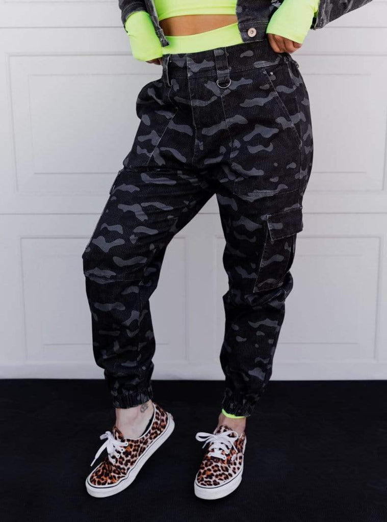 Cargo Cult Jogger in 'Black Camo' - Celestial Bodiez Collective