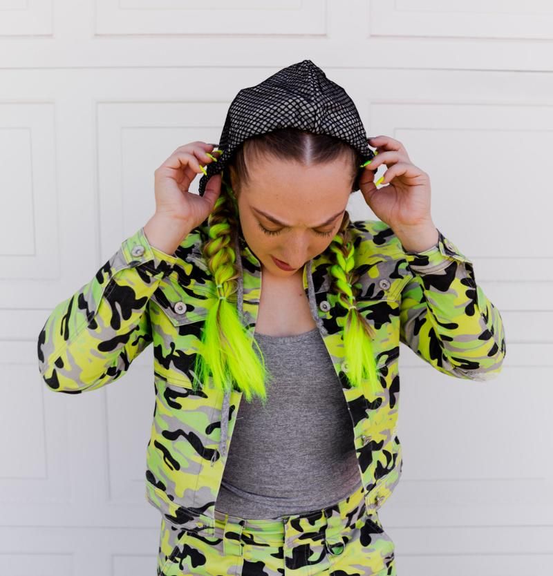 Cargo Cult Jacket in 'Hidden in Neon' - Celestial Bodiez Collective