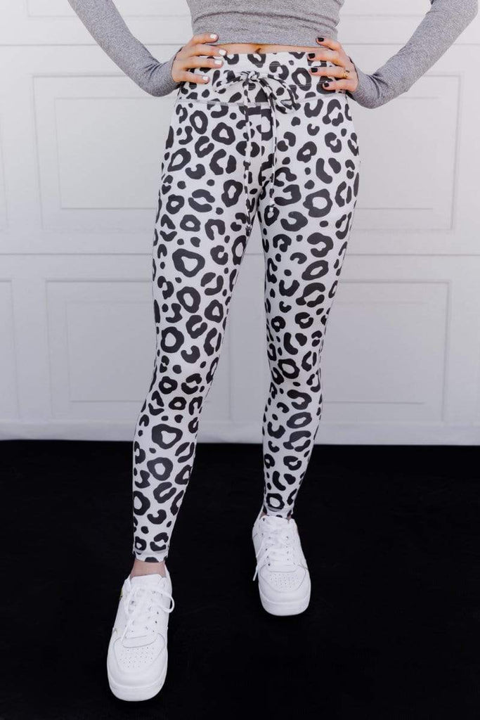 Power 7/8th Leggings in 'Snow Leopardess' - Celestial Bodiez Collective