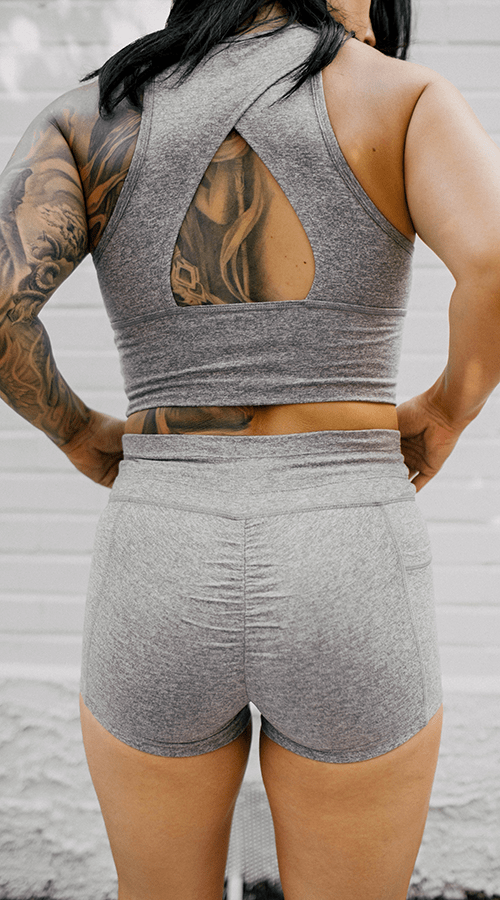 #STREET Shorts in 'Smoke Gray' - Celestial Bodiez Collective