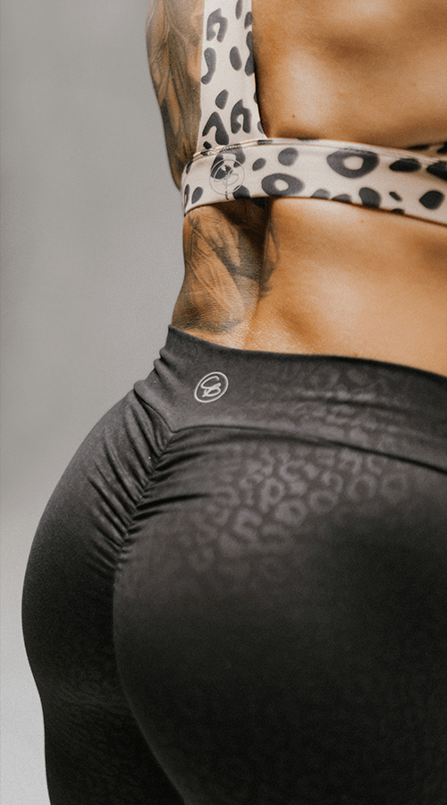"High Rise #Bootyscrunch Leggings in ""Black Panther"" - Celestial Bodiez Collective"