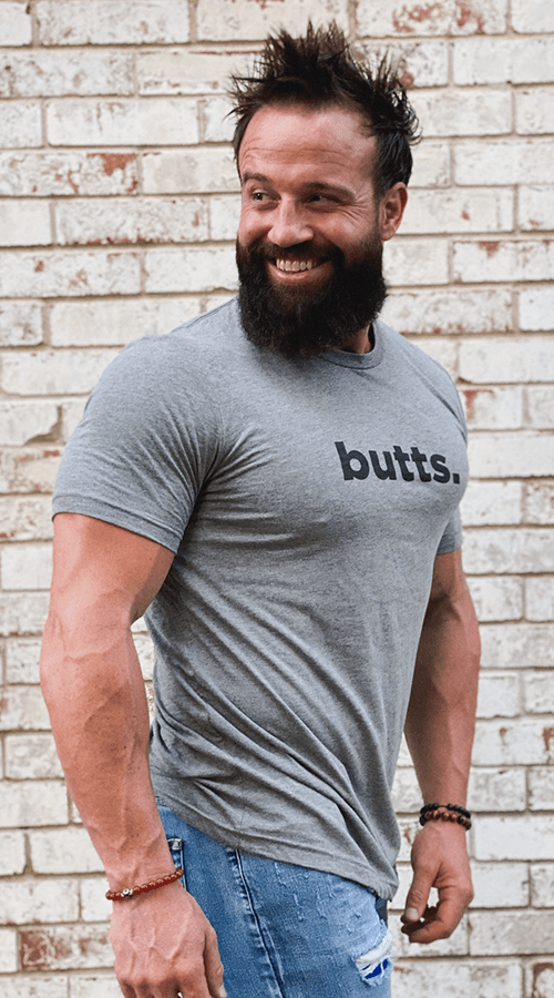 'Butts' Unisex Tee in Gray - Celestial Bodiez Collective