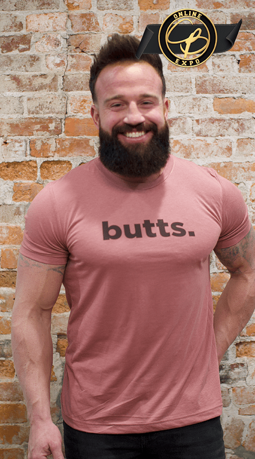 'butts' Unisex Tee in Mauve - Celestial Bodiez Collective