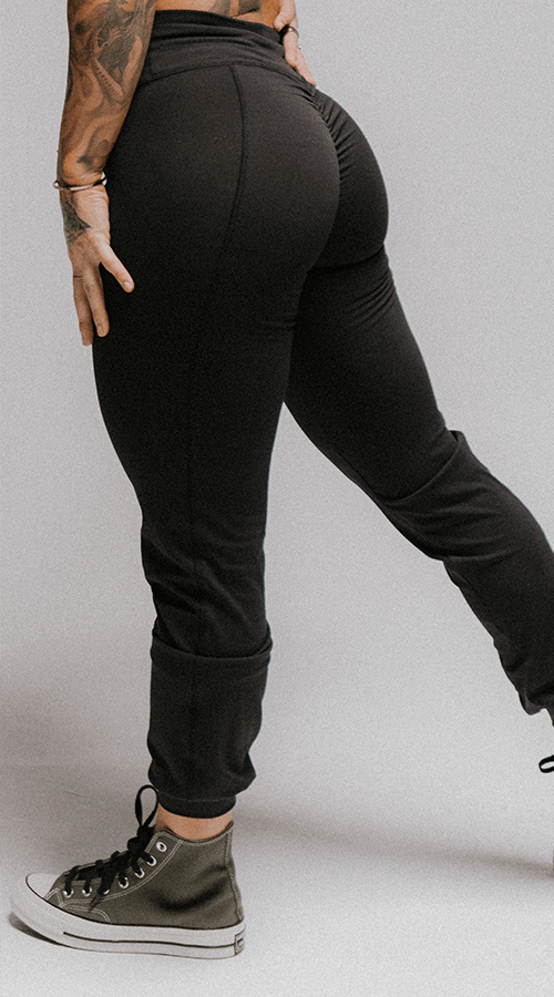 Queen's Joggers in Classic Black - Celestial Bodiez Collective