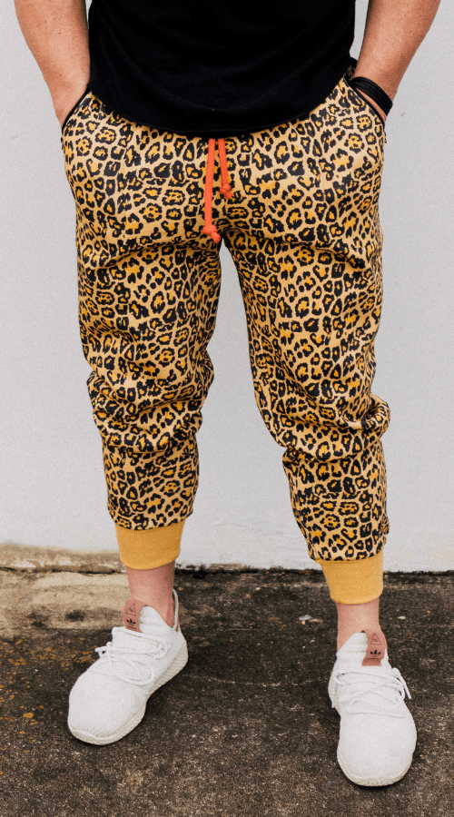 Sweats! But-make-it-Fashion Jogger in 'Rebel Leopard' - Celestial Bodiez Collective