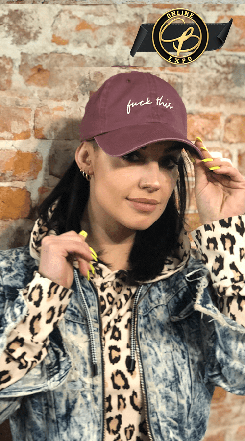 'fuck this' Dad hat in Maroon - Celestial Bodiez Collective