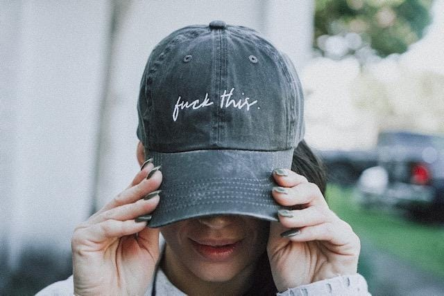 fuck this. Baseball Cap - Celestial Bodiez Collective