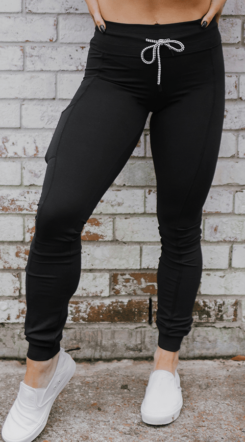 Hybrid #STREET Jogger in Classic Black - Celestial Bodiez Collective