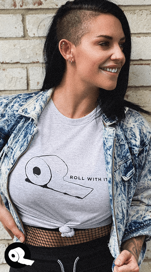'Roll With It' Unisex Tee in Ash White - Celestial Bodiez Collective