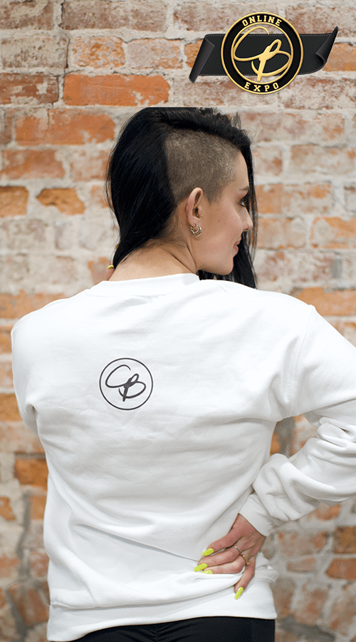 '*this* fuckin guy' Unisex Sweatshirt in White - Celestial Bodiez Collective